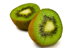 Two halves of kiwi Stock Photo