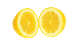 Two halves of lemon. Stock Photo