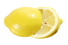 Two Halves of Lemon Stock Image