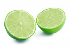 Two halves of lime Stock Photography