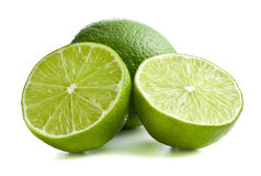 Two halves of lime stock images