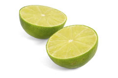 Two halves of lime. Royalty Free Stock Image