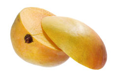 Two Halves of Mango Royalty Free Stock Image