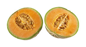 Two halves of melons Royalty Free Stock Photography