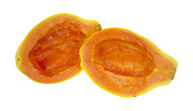 Two halves papaya fruit Royalty Free Stock Photography