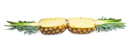 Two halves of pineapple Royalty Free Stock Photo