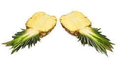 Two halves of pineapple Royalty Free Stock Image