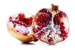 Two halves of pomegranate Stock Photography