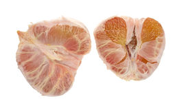 Two halves of a pummelo fruit Stock Photo