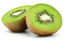 Half of kiwi fruit isolated on white Royalty Free Stock Photo
