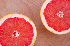 Two halves sliced of grapefruit Stock Images