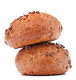 Two hamburger bun or roll with sesame seeds  cutout Royalty Free Stock Photo