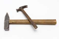Two hammer. Two hammer on white background Royalty Free Stock Image