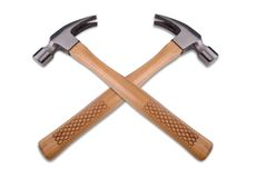 Two Hammers Crossed Royalty Free Stock Photos