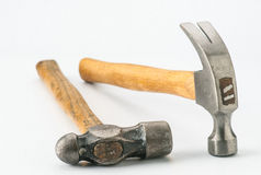 Two hammers with metal head Royalty Free Stock Image