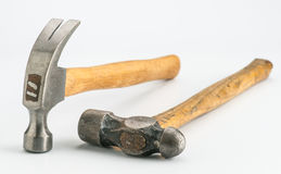 Two hammers with metal head Royalty Free Stock Images