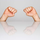 Two hand. S clenched into fists Royalty Free Stock Photos