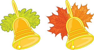 Two hand bells, vector illustration Stock Photography