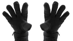 Two hand in black gloves Stock Photography