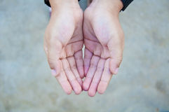 Two hand of child Stock Photography