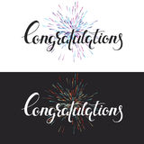Two hand drawn text congratulation backgrounds. Two hand drawn vector text congratulation backgrounds Stock Photo