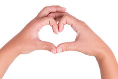 Two hand heart Royalty Free Stock Images