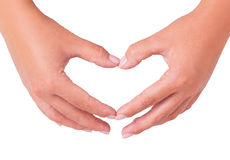 Two hand heart Stock Image