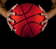 Two hand holding basketball Royalty Free Stock Photos