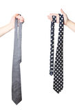 Two hand holding tie's Royalty Free Stock Images