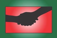 Two Hand Shaking. Hand shake between two persons Stock Illustration