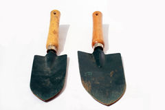 Two hand shovels Stock Images