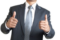 Two Hand Thumbs Up Stock Image