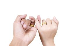 Two hand touch for love concept. Royalty Free Stock Images
