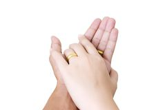Two hand touch for love concept. Royalty Free Stock Image
