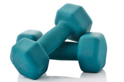 Two hand weights for exercise Stock Photography