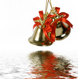 Two handbells. On a white background royalty free stock image