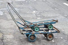 Two handcarts. Royalty Free Stock Photography