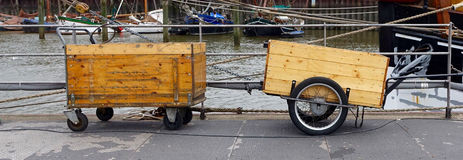Two handcarts Stock Images
