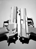 Two handguns Stock Photography