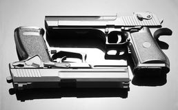 Two handguns Royalty Free Stock Photos