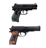 Two handguns Royalty Free Stock Photography