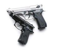 Two handguns Stock Photos