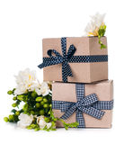 Two handmade boxes Stock Photo