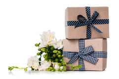 Two handmade boxes Stock Images