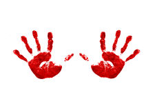 Two handprints Royalty Free Stock Photography