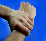 Two hands...(1). Here are two hands Stock Photography