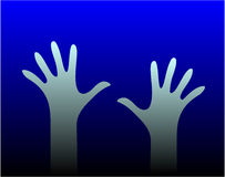 Two Hands. Vector work - illustration Royalty Free Stock Photo