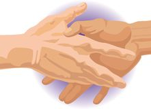 Two hands. Hand-shake. vector. illustration Royalty Free Stock Photography