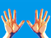 Two hands. Illustration Stock Photos
