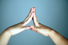 Two hands coming together Royalty Free Stock Photography